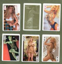 Collectable playing cards. Playboy Cindy Crawford skat deck